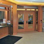 Entry doors at Ronald McDonald house