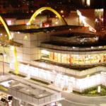 50th Anniversary McDonalds night shot of the building