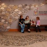Kids sitting in entry way at Ronald McDonald house