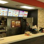 BP/Burger King interior counter for ordering food