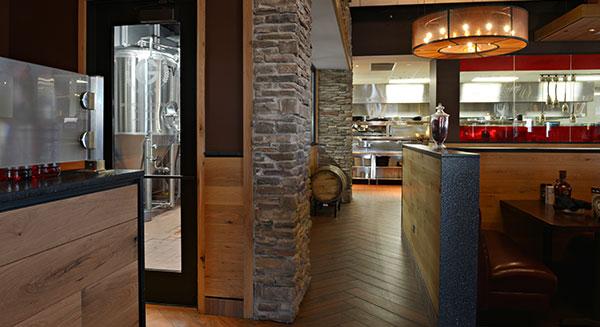 Brewery Door and Kitchen