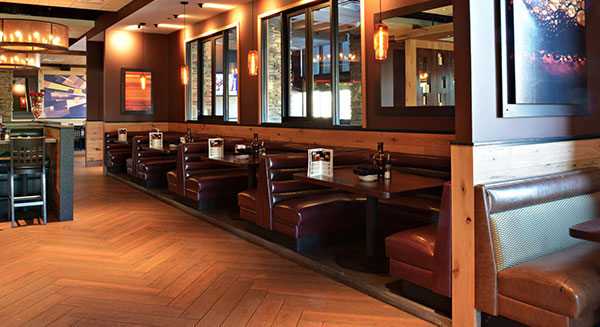 Dining Room Booths and Floor