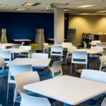 Cafe seating at Pentair