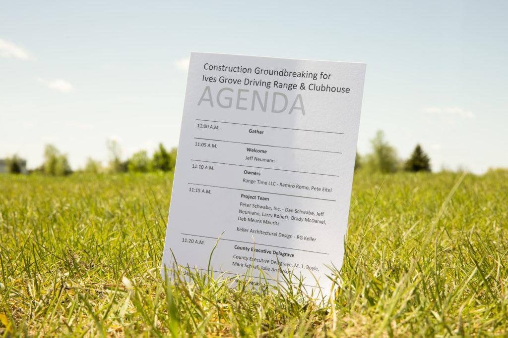 Agenda for groundbreaking ceremony
