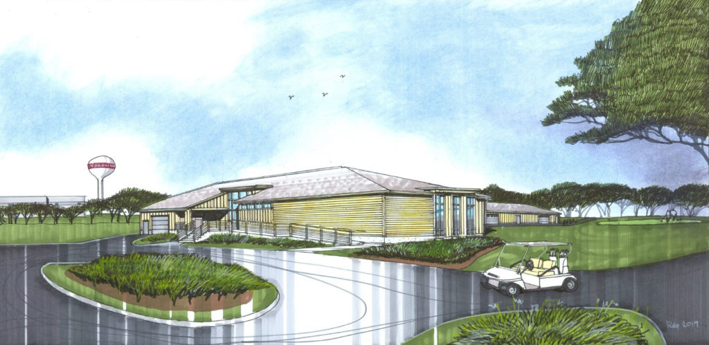 Rendering of new Ives Grove Driving Range and Clubhouse