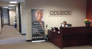 Receptionist desk at Patina Solutions