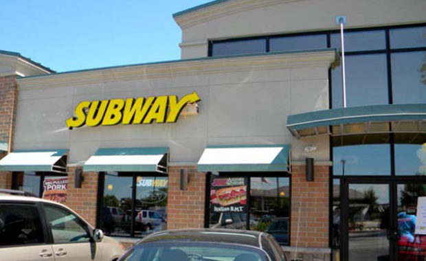 Exterior shot of Subway