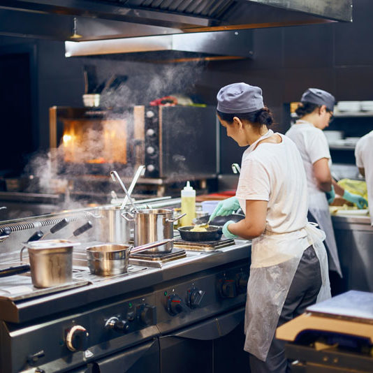 Industrial-professional-restaurant-kitchen-with-chefs